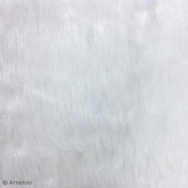Fausse fourrure 29 x 29 cm - Blanche - Photo n°3