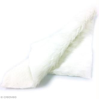 Fausse fourrure 29 x 29 cm - Blanche