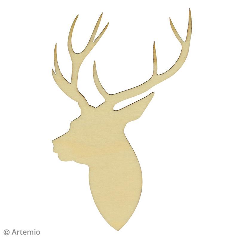 Forme en bois d corer no l ecossais t tes de cerf - Dessin bois de cerf ...