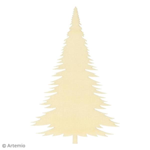 Forme en bois à décorer - Noël Ecossais - Sapins 10 cm - 3 pcs - Photo n°2