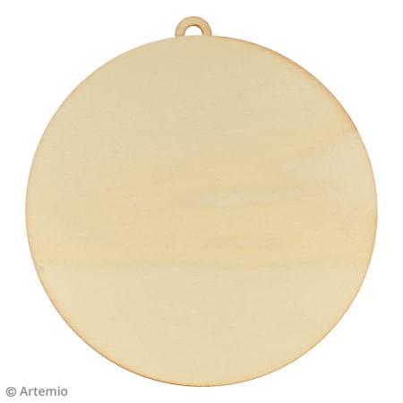 Forme en bois a decorer boule de noel 15 cm 3 pcs m - Boule de noel plastique a decorer ...
