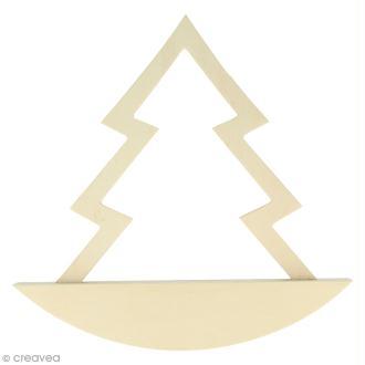 Forme à bascule à décorer 19,5 x 19,5 cm - Sapin  - 1 pce