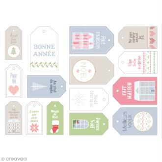 Die cut Artemio - Etiquettes Noël Home sweet Home - 15 pcs