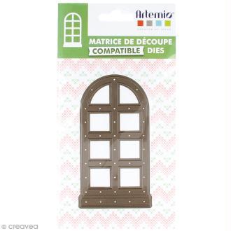 Die Artemio Noël Home sweet Home - Fenêtre arrondie 12 x 6 cm - 1 matrice de découpe