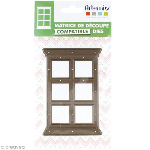 Die Artemio Noël Home sweet Home - Fenêtre droite 12 x 8 cm - 1 matrice de découpe - Photo n°1
