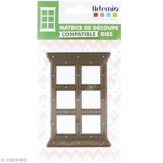 Die Artemio Noël Home sweet Home - Fenêtre droite 12 x 8 cm - 1 matrice de découpe