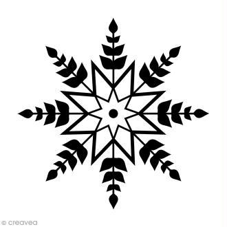 Tampon Bois Artemio - Flocon étoile - 3,1 x 3,1 cm