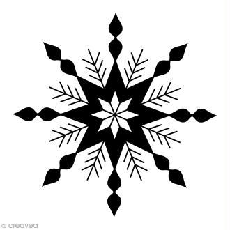 Tampon Bois Artemio - Grand flocon étoile - 4,5 x 4,5 cm