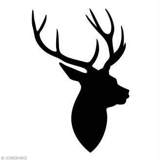 Tampon Bois Artemio - Tête de cerf - 4,5 x 7 cm