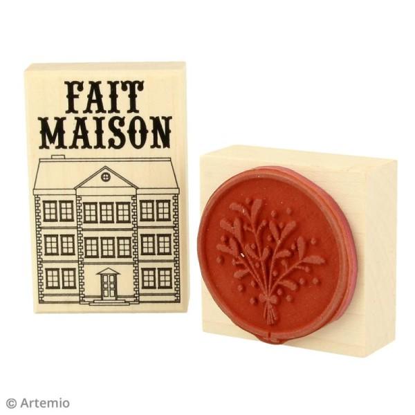 Tampon Bois Artemio - Etiquette Fait maison - 4,5 x 7 cm - Photo n°2