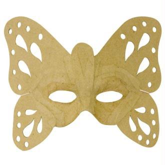 Masque Papillon en papier mâché 23,5 cm