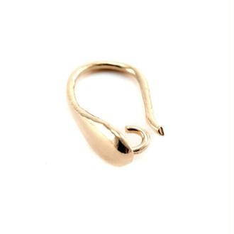 Boucles d'oreilles américaine crochet rose gold 24x12mm x2
