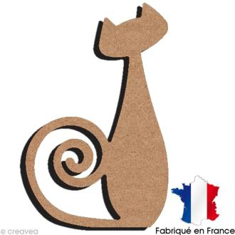 Chat Design en bois 15 cm