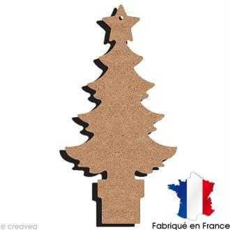 Sapin en bois à suspendre 15 cm