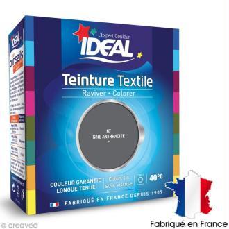 Teinture Tissu Idéal liquide gris 67 maxi