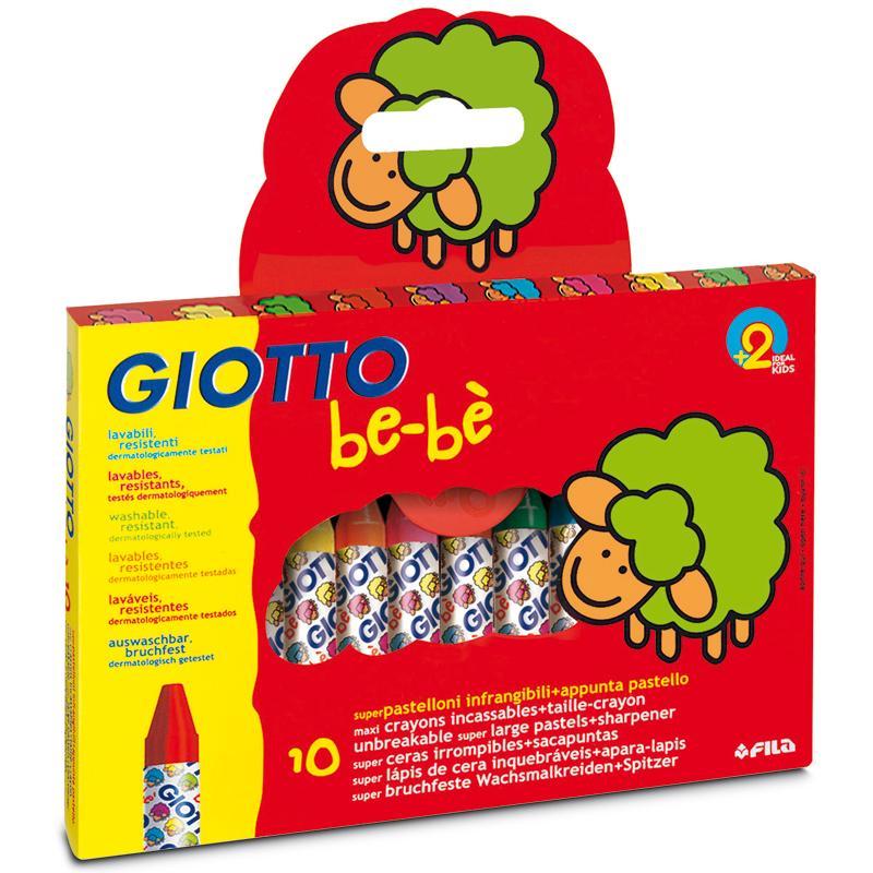 Crayon Cire Maxi Giotto Bebe X 10 Crayon De Coloriage Creavea