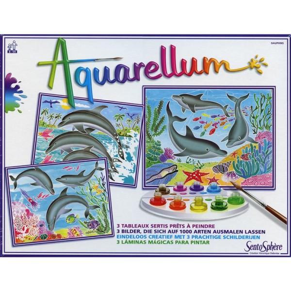 Jeu créatif Aquarellum Dauphins - Photo n°2