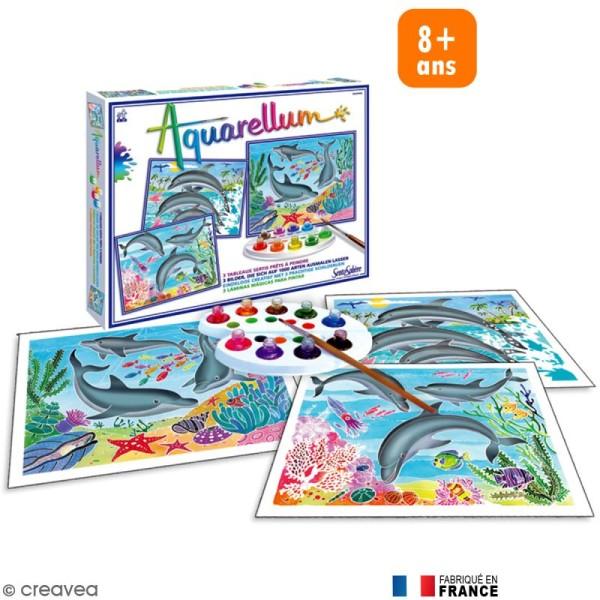 Jeu créatif Aquarellum Dauphins - Photo n°1