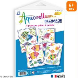 Recharge Aquarellum Junior Aquarium x 4 dessins