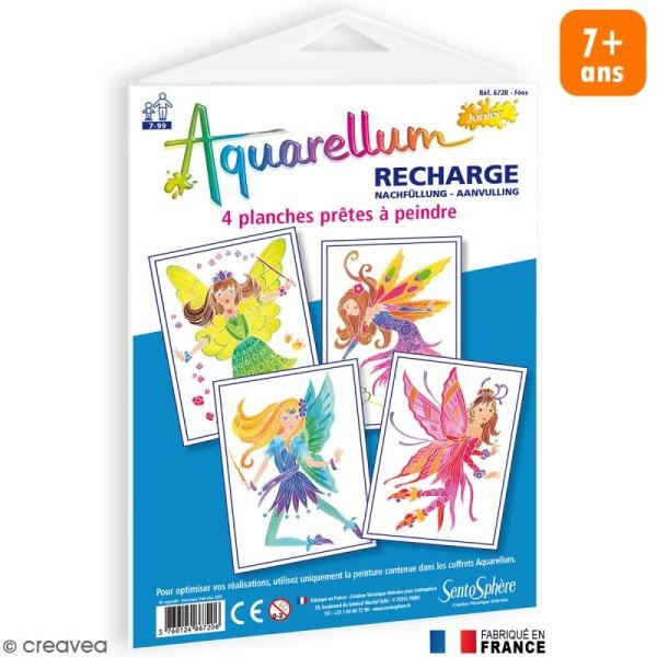 Recharge Aquarellum Junior Fées x 4 dessins - Photo n°1