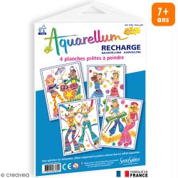 Recharge Aquarellum Junior Disco girl x 4 dessins