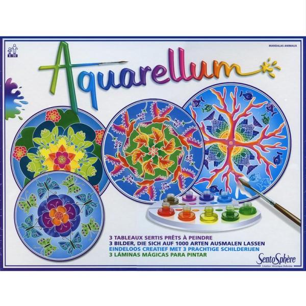 Jeu créatif Aquarellum Mandala animaux - Photo n°2