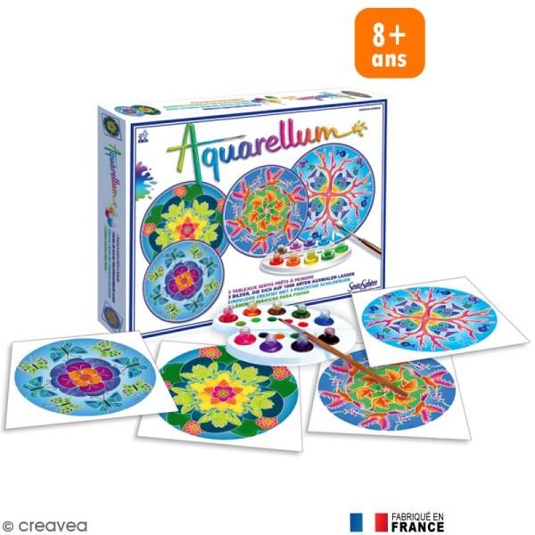 Jeu créatif Aquarellum Mandala animaux - Photo n°1