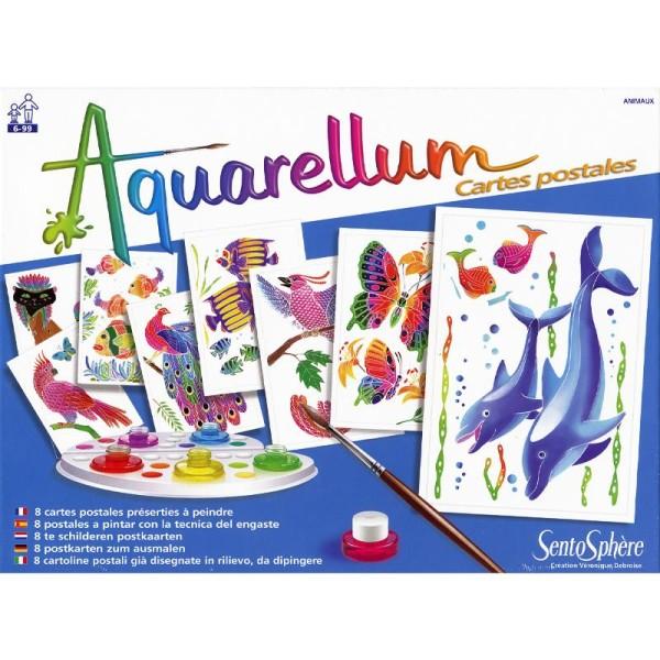 Jeu créatif Aquarellum Cartes postales animaux - Photo n°2