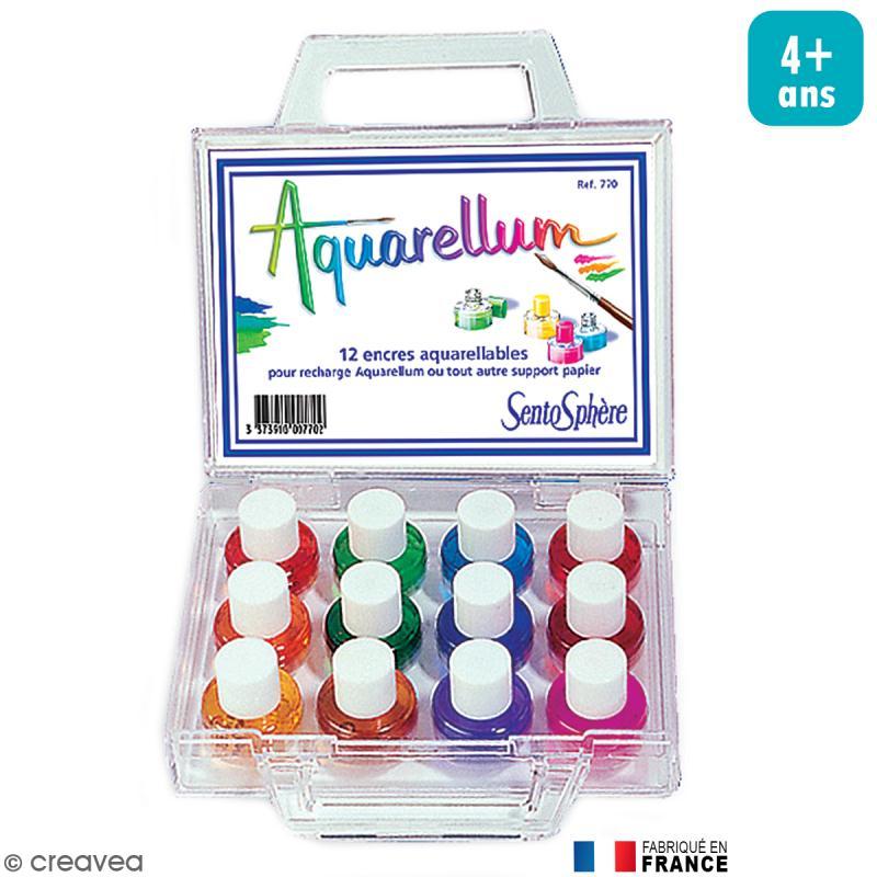 Encre Aquarellum 12 couleurs - Photo n°1