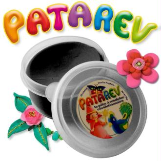 Pâte à modeler Patarev Noir pot de 30 g