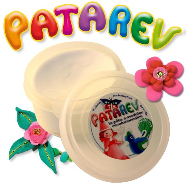 Pâte à modeler Patarev Blanc pot de 30 g - Photo n°1
