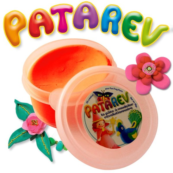 Pâte à modeler Patarev Orange pot de 30 g - Photo n°1