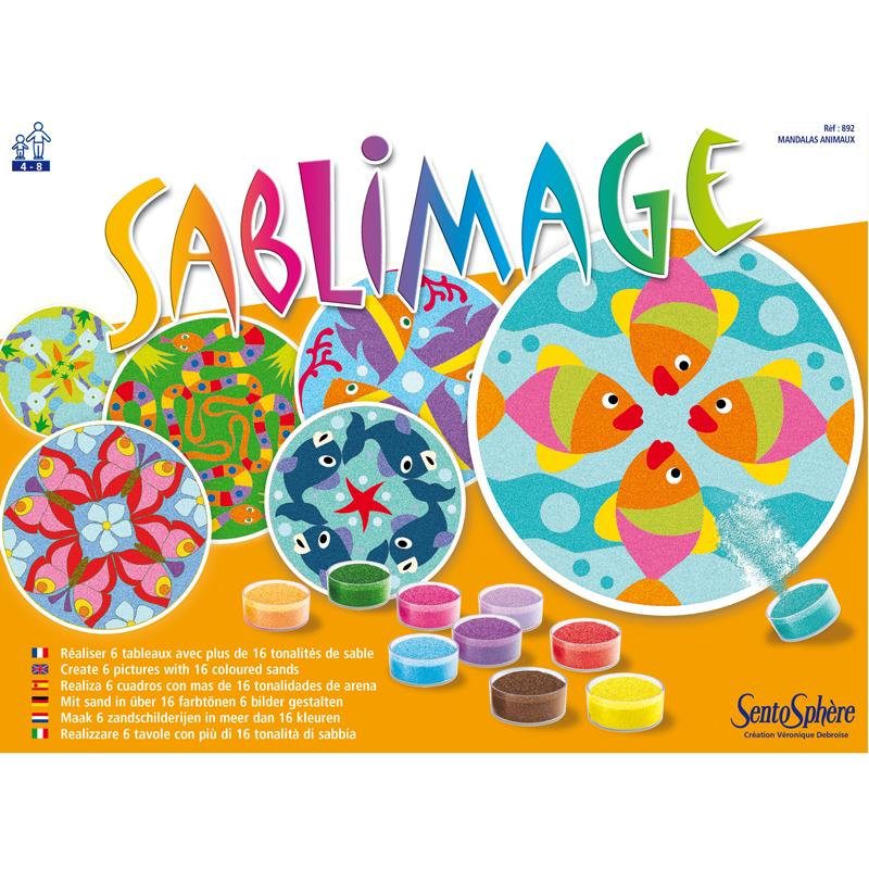 Tableau sable Sablimage Mandala animaux - Photo n°2