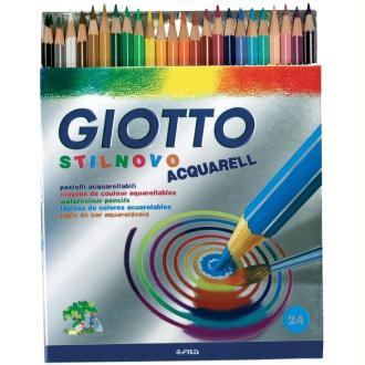 Crayons de couleurs aquarelle GIOTTO x 24