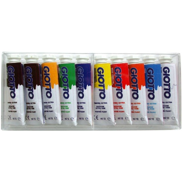 Gouache extra fine GIOTTO 10ml x 10 tubes - Photo n°1