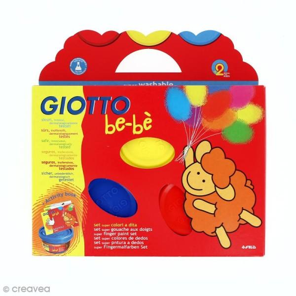 Gouache au doigt GIOTTO 100 ml x 3 avec livret d'activité - Photo n°1
