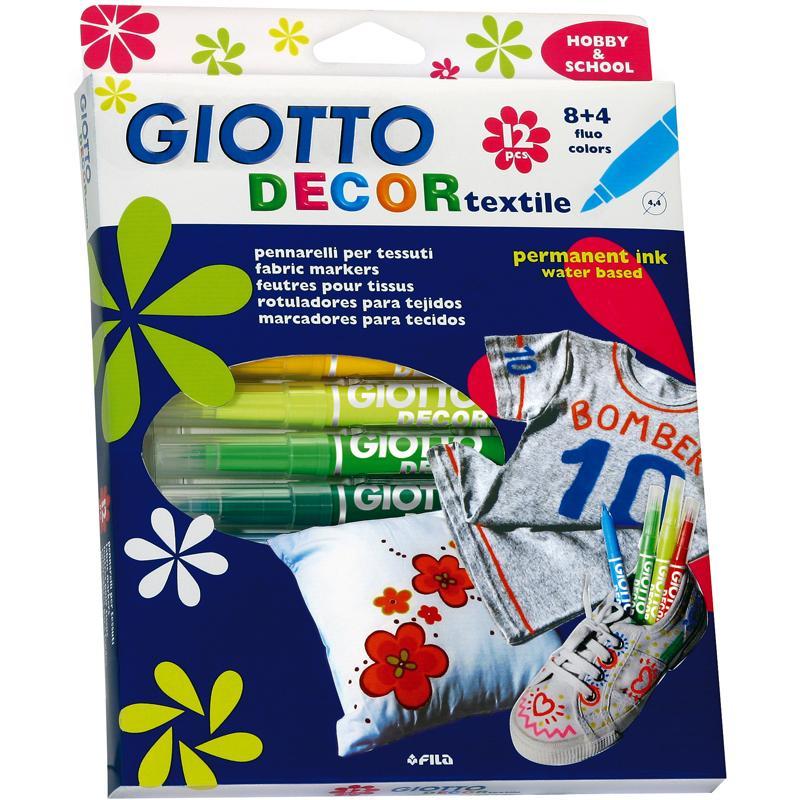 Feutre textile Giotto Decor Textile x 12 - Photo n°1