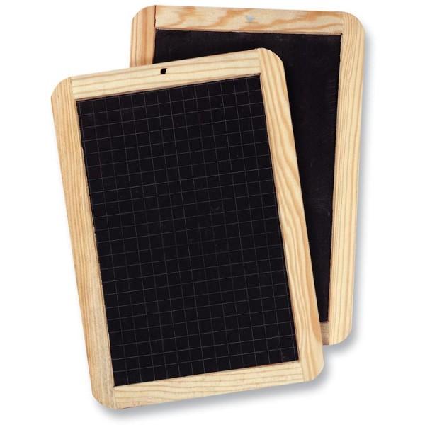 Ardoise naturelle avec cadre bois 18 x 26 cm - Photo n°1