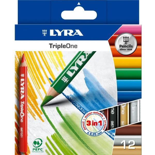 Crayon de couleur Triple-One x 12 - Photo n°1