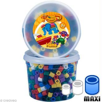 Perles Hama Maxi diam. 1 cm - Couleurs vives x 600