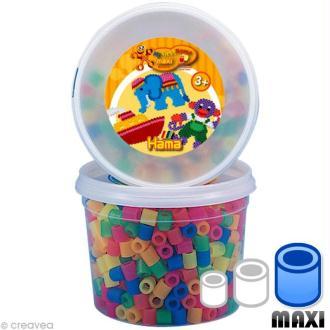 Perles Hama Maxi diam. 1 cm - Néon x 600