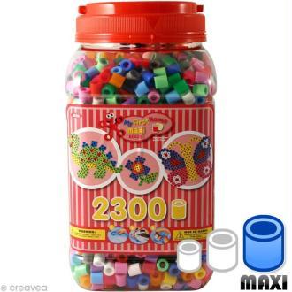 Perles Hama Maxi diam. 1 cm - Rose x 2300