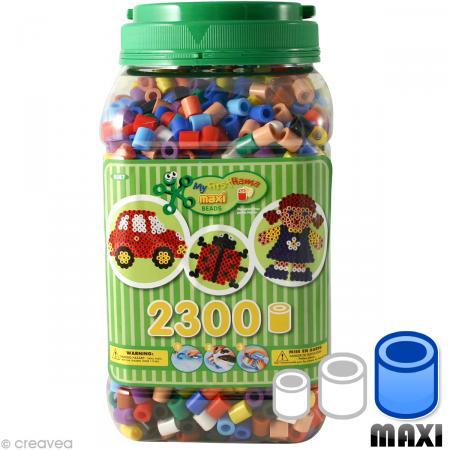 Perles Hama Maxi diam. 1 cm - Vert x 2300 - Photo n°1