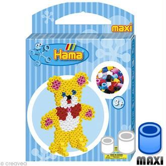 Perles Hama Maxi diam. 1 cm  - Boite Nounours x 350