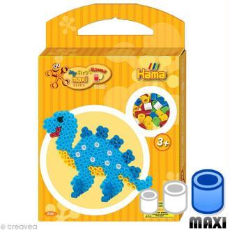 Perles Hama Maxi diam. 1 cm  - Boite Dinosaure x 350