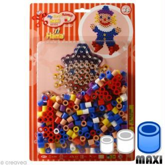 Perles Hama Maxi diam. 1 cm - Assort. Clown x 250