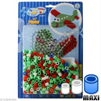 Perles Hama Maxi diam. 1 cm - Assort. Avion x 250