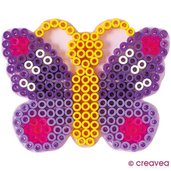 Plaque pour perles Hama Maxi - transparente Papillon - Photo n°2