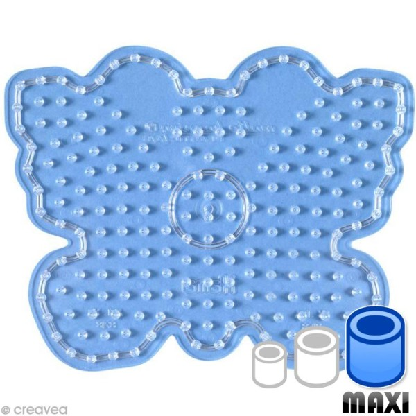 Plaque pour perles Hama Maxi - transparente Papillon - Photo n°1