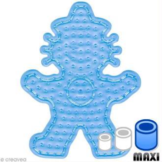 Plaque pour perles Hama Maxi - transparente Clown